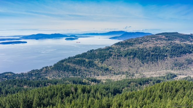 Pudget Sound from Oyster Dome